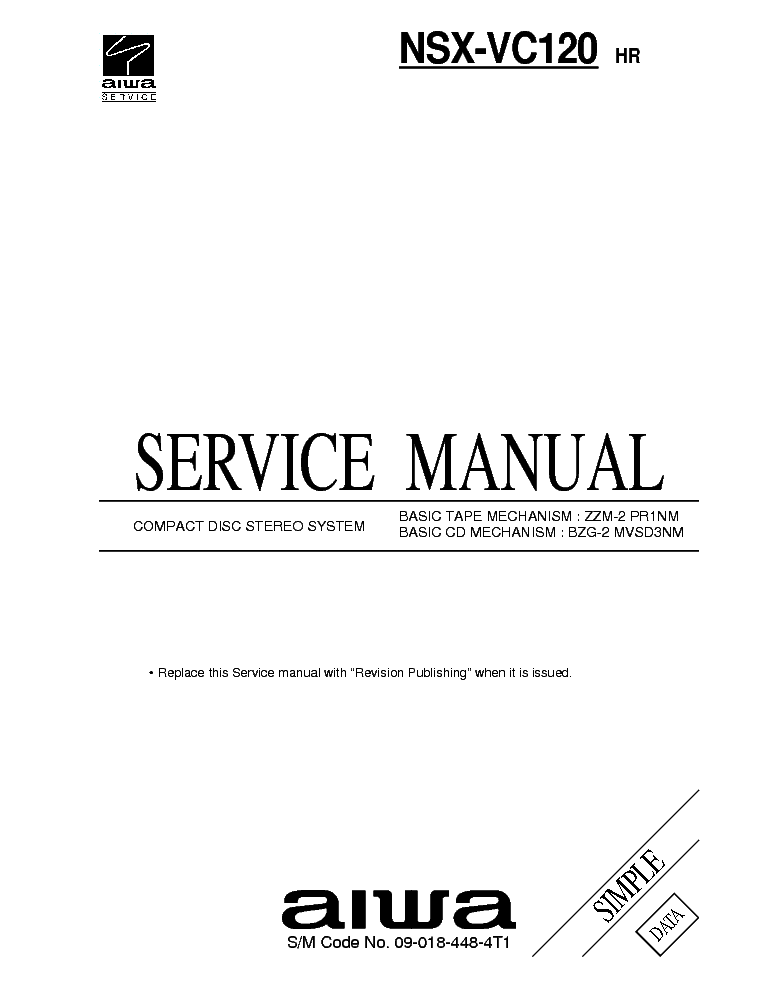 AIWA CR-AS09 Service Manual download, schematics, eeprom