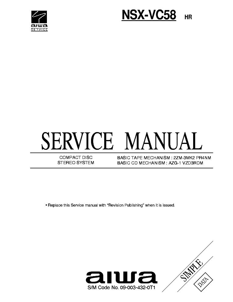 AIWA NSX-S888 898 SM Service Manual free download