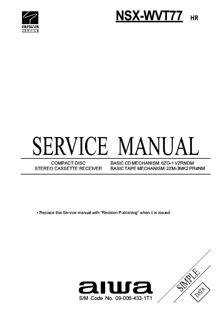 AIWA HS-J505 Service Manual download, schematics, eeprom