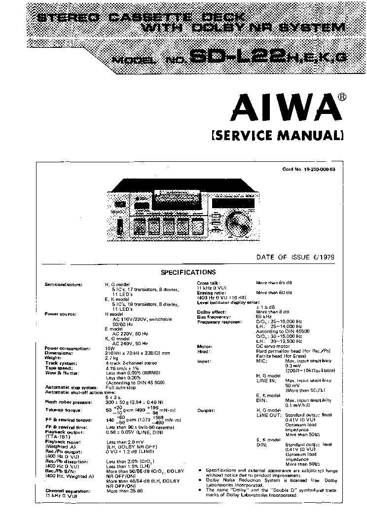 AIWA NSX-F958 NSX-F959 NSX-F969 Service Manual download