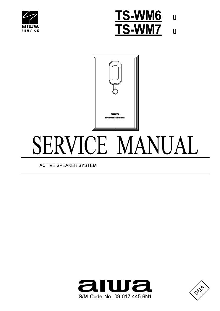 AIWA TS-WM6 TS-WM7 Service Manual download, schematics