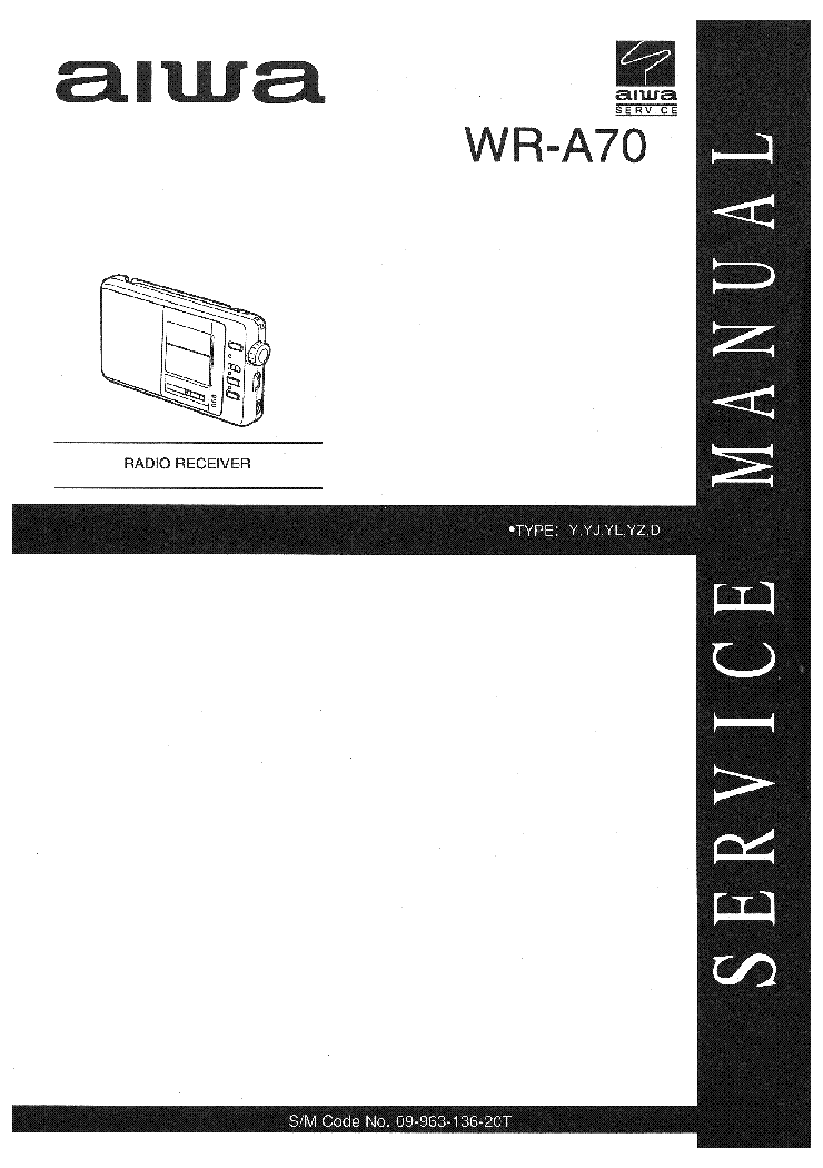AIWA WR-A70 Service Manual download, schematics, eeprom