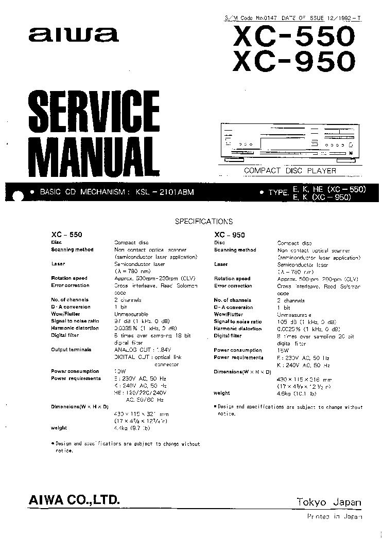 AIWA Z-D3300M MX-Z3300M SM Service Manual free download