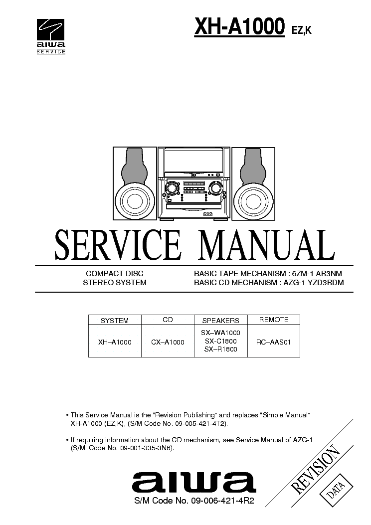 AIWA NSX-500 XG-500 CX-3500 Service Manual download