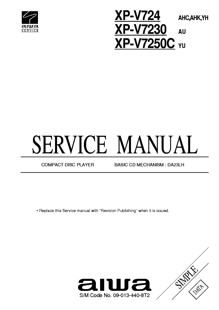 AIWA NSX-V50,V52,V54 V51G Service Manual free download