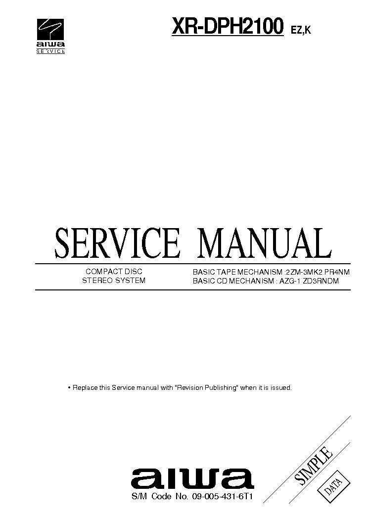 AIWA AD-6550 SM Service Manual free download, schematics