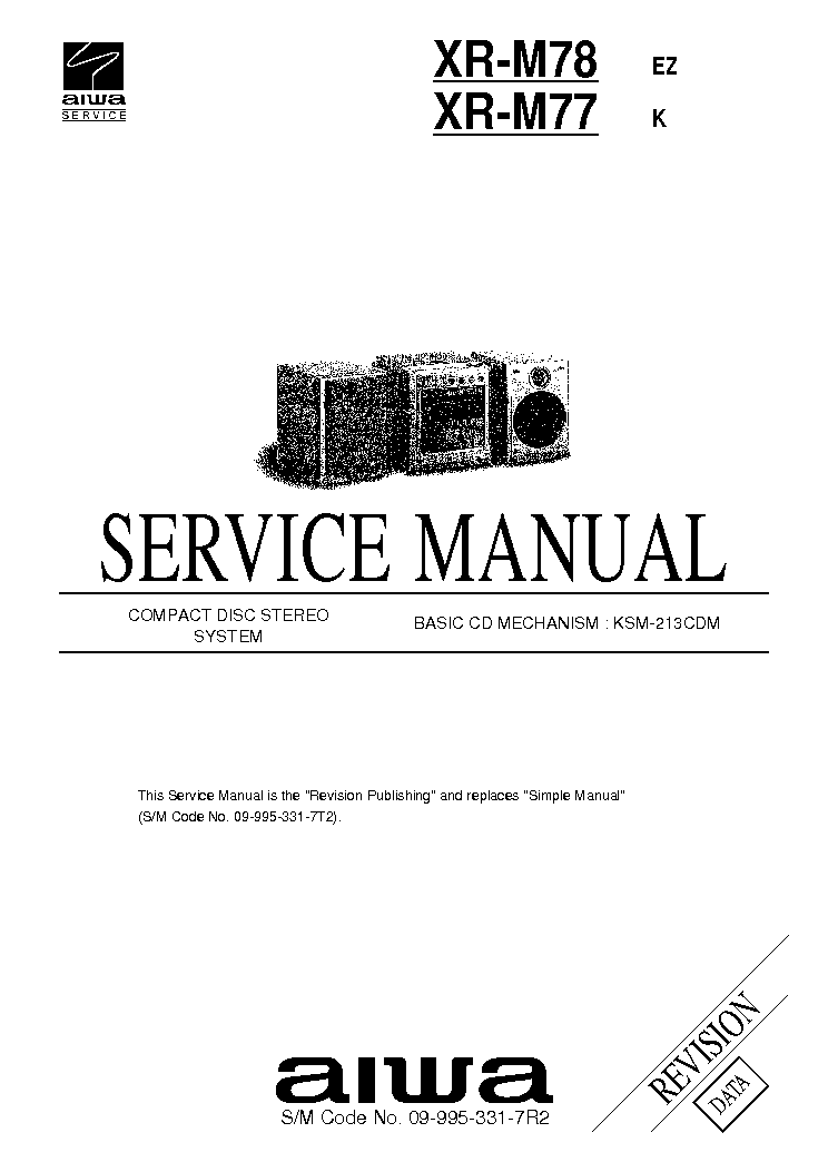 AIWA NSX-S505 NSX-S506 Service Manual download, schematics