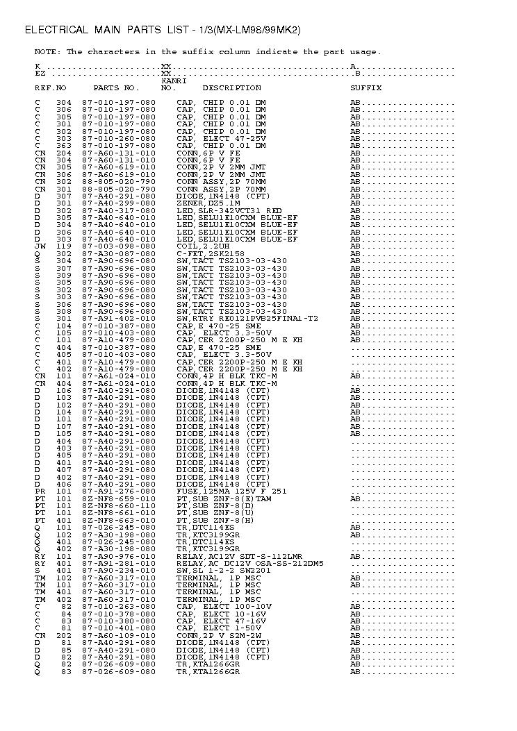 AIWA XR-M98 99MK2 Service Manual download, schematics