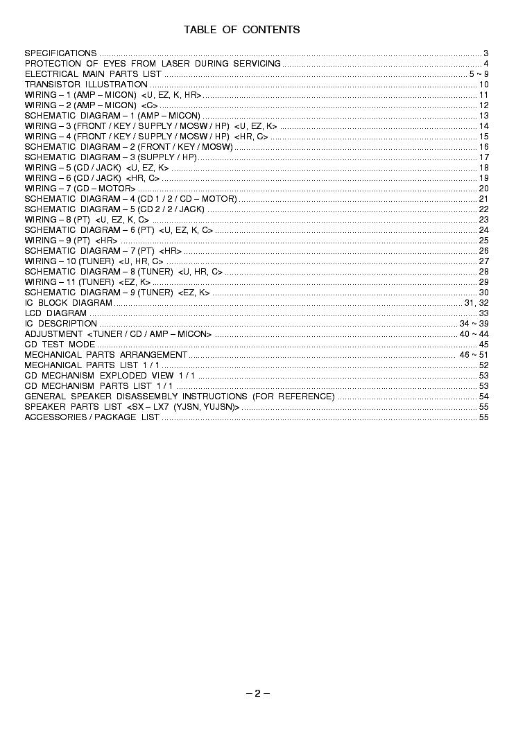 AIWA XR-X7 Service Manual download, schematics, eeprom
