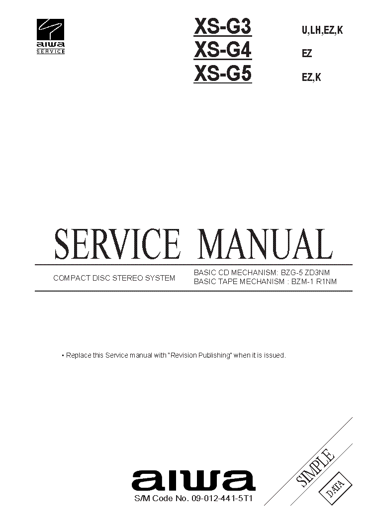 AIWA LCX-111,LCX-110 Service Manual free download