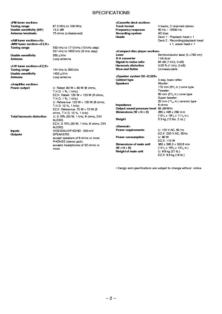 AIWA Z-L520 Service Manual download, schematics, eeprom