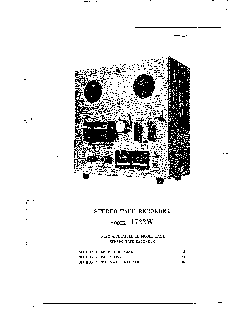 AKAI 1722W SM Service Manual download, schematics, eeprom