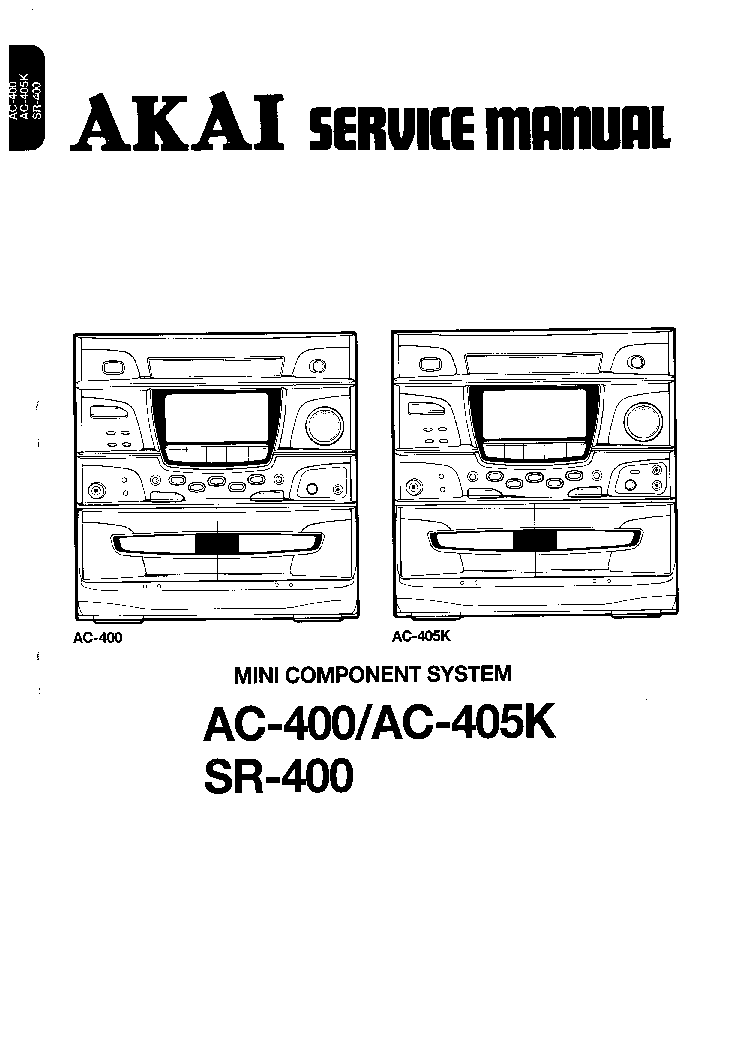 AKAI AC-400 AC-405K SR-400 Service Manual download