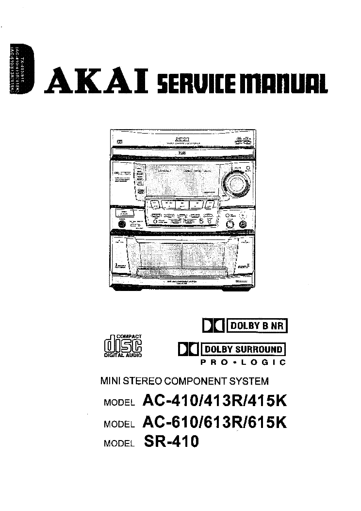 AKAI AM-U55 Service Manual download, schematics, eeprom