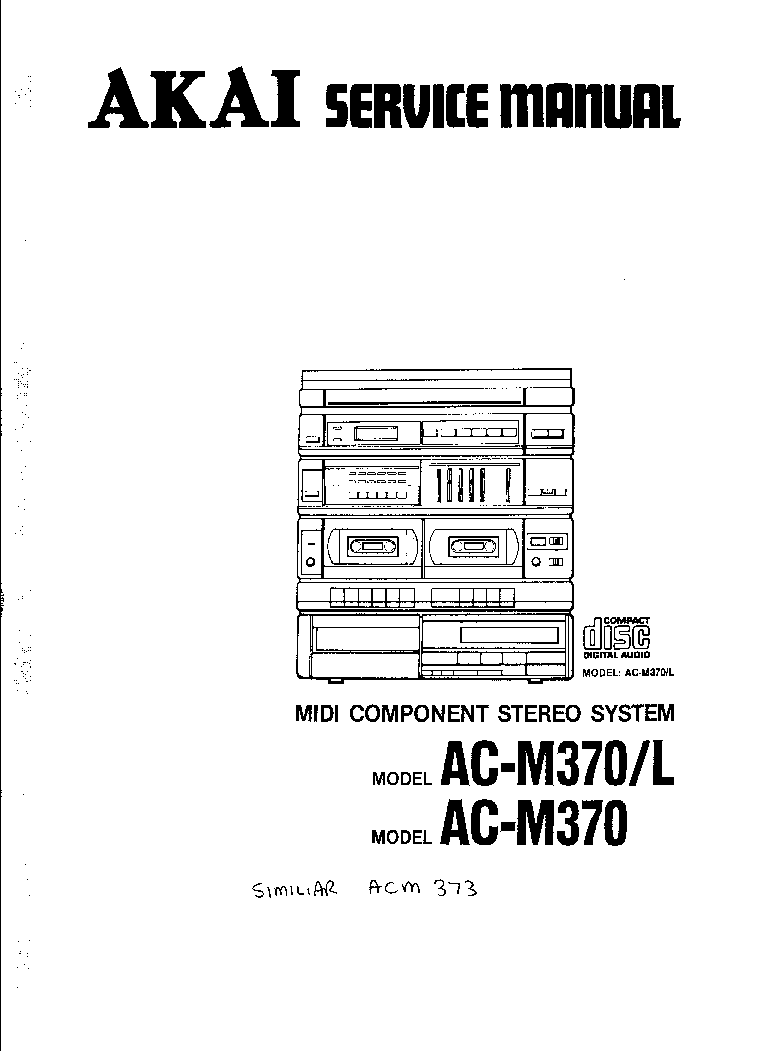 AKAI AM75 AM95 Service Manual free download, schematics