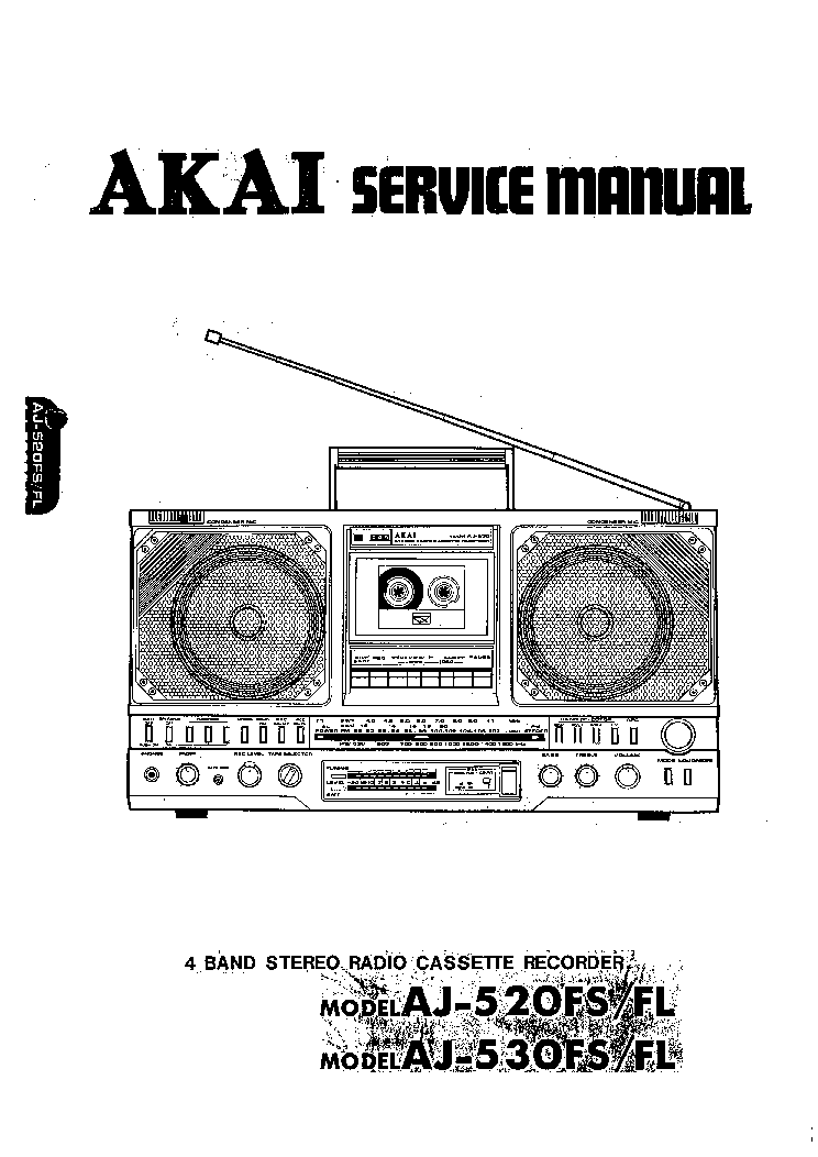 AKAI DT100 DT200 Service Manual download, schematics