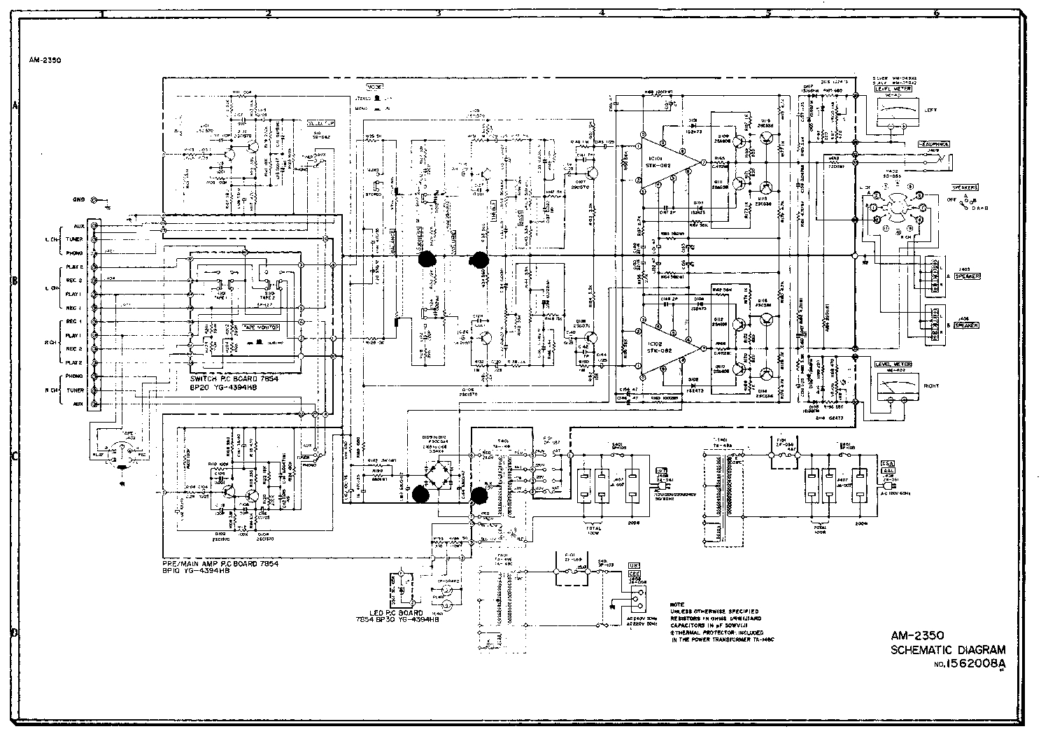 AKAI AM-2350 SCH Service Manual download, schematics