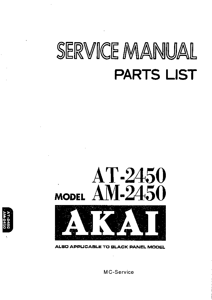 AKAI GX-75 SM Service Manual download, schematics, eeprom