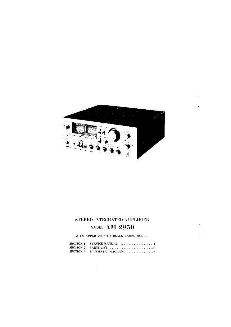 AKAI AM-2950 Service Manual download, schematics, eeprom