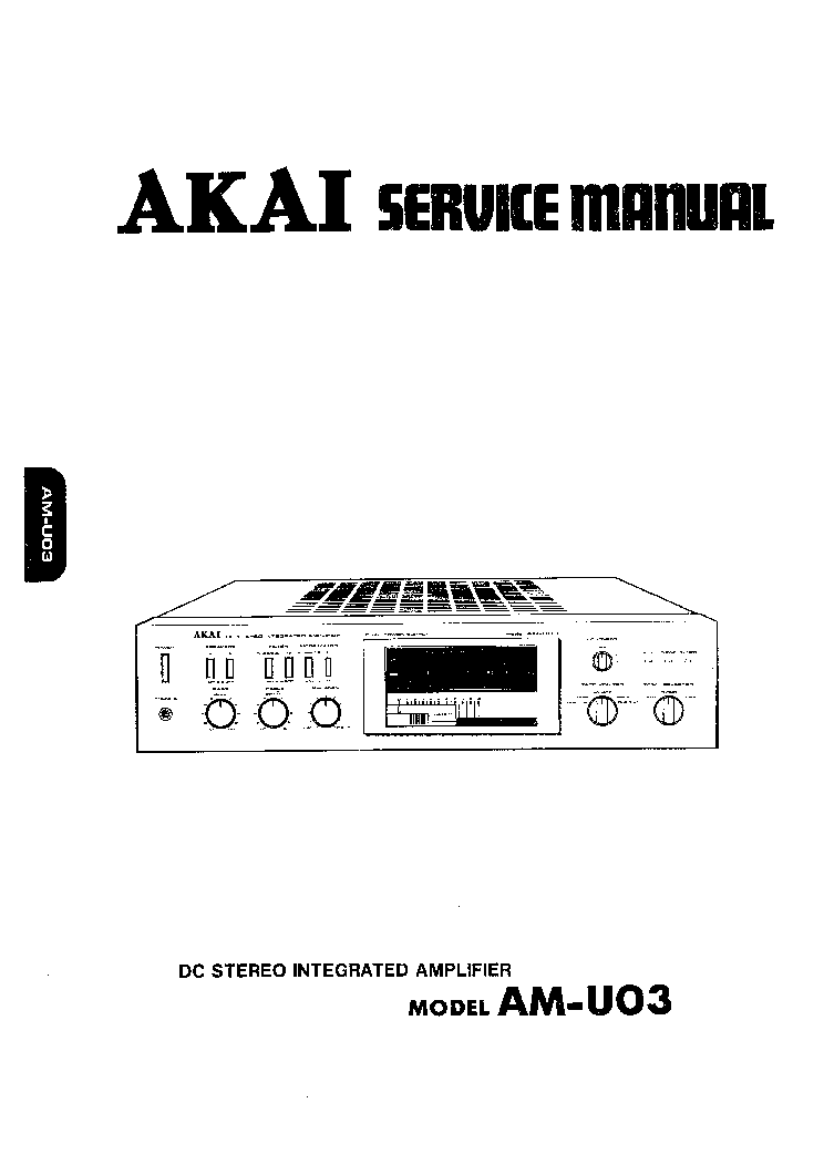 AKAI AM-U03 Service Manual download, schematics, eeprom