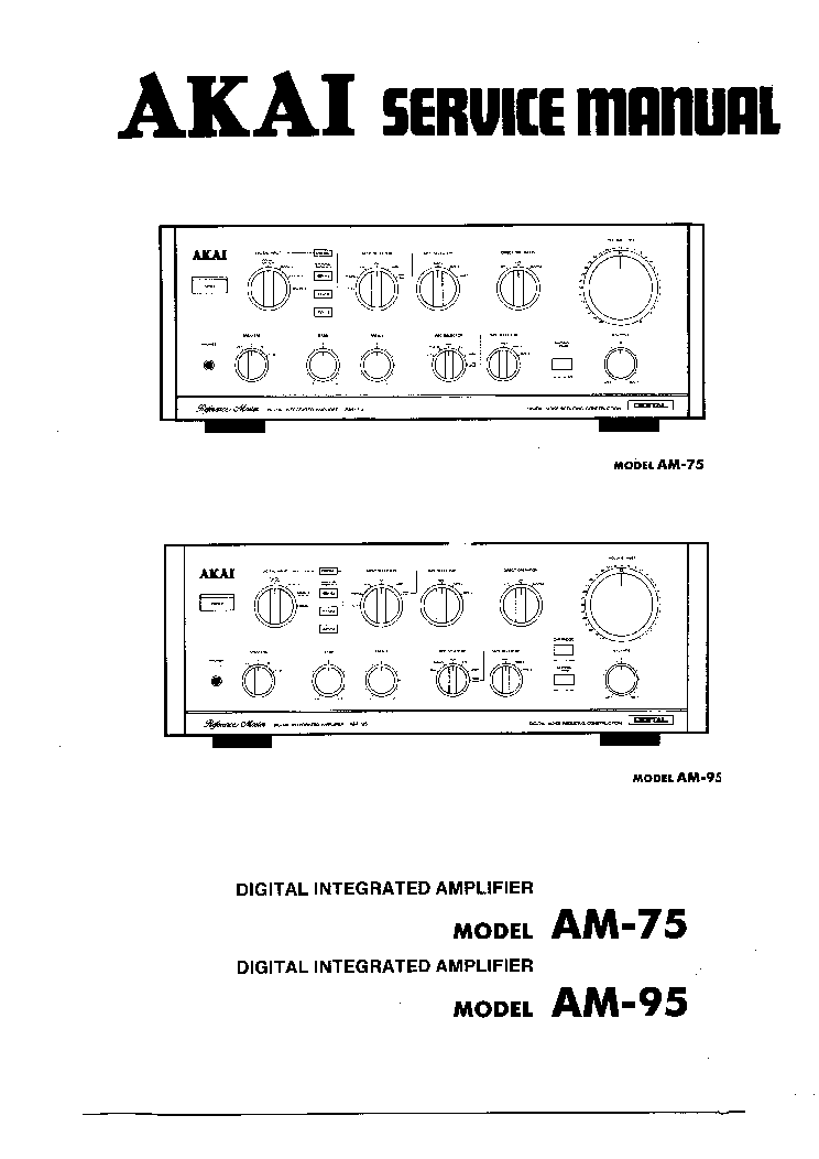 AKAI AM-2350 SM Service Manual download, schematics