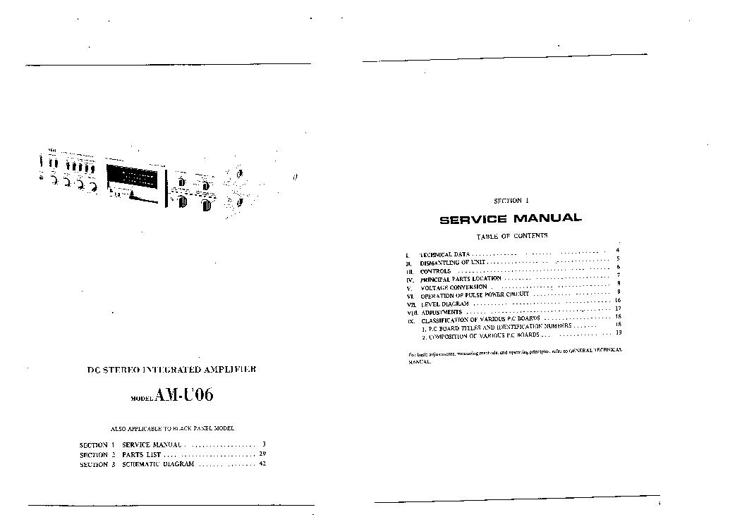 AKAI AM U06 Service Manual download, schematics, eeprom