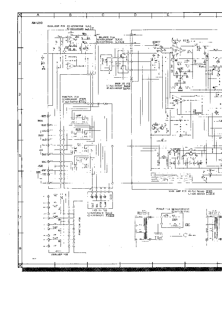 AKAI AM U210 AMPL Service Manual download, schematics