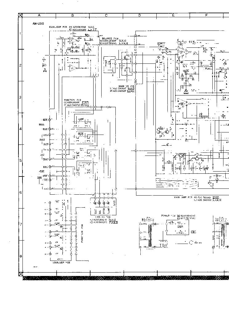 AKAI AM U210 AMPL Service Manual download, schematics