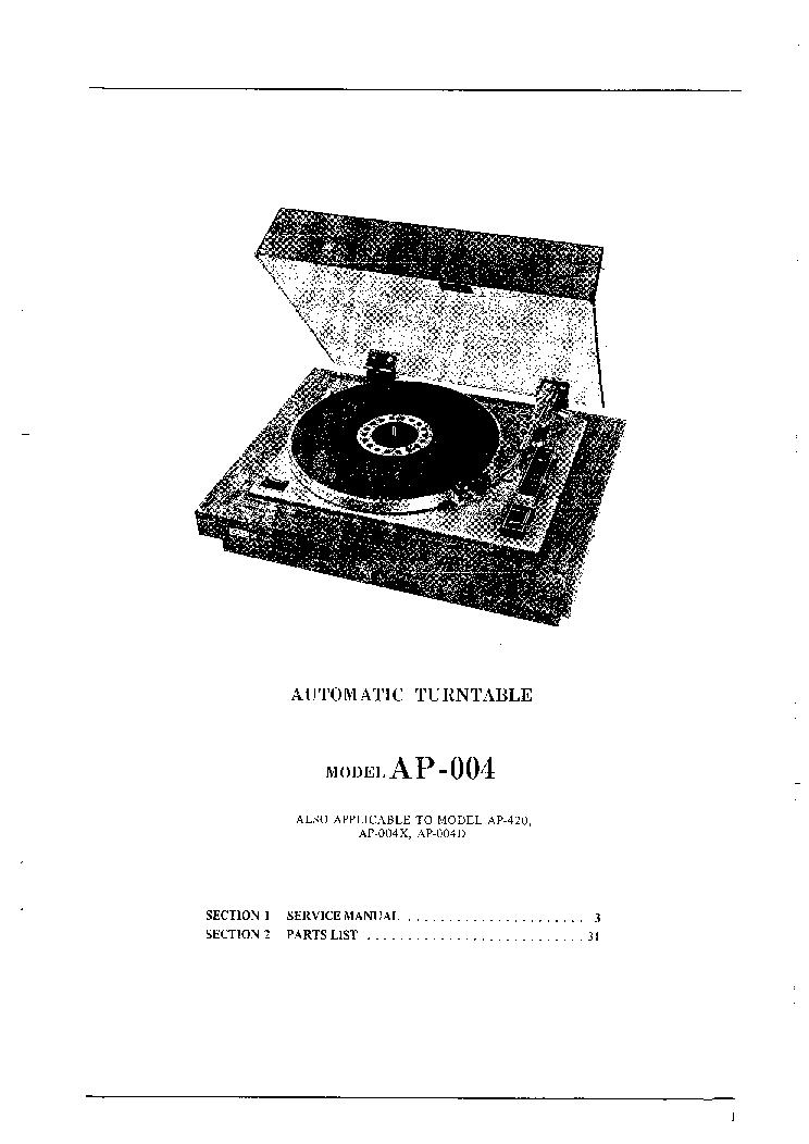 AKAI AP-004-X-D AP-420 SM Service Manual download