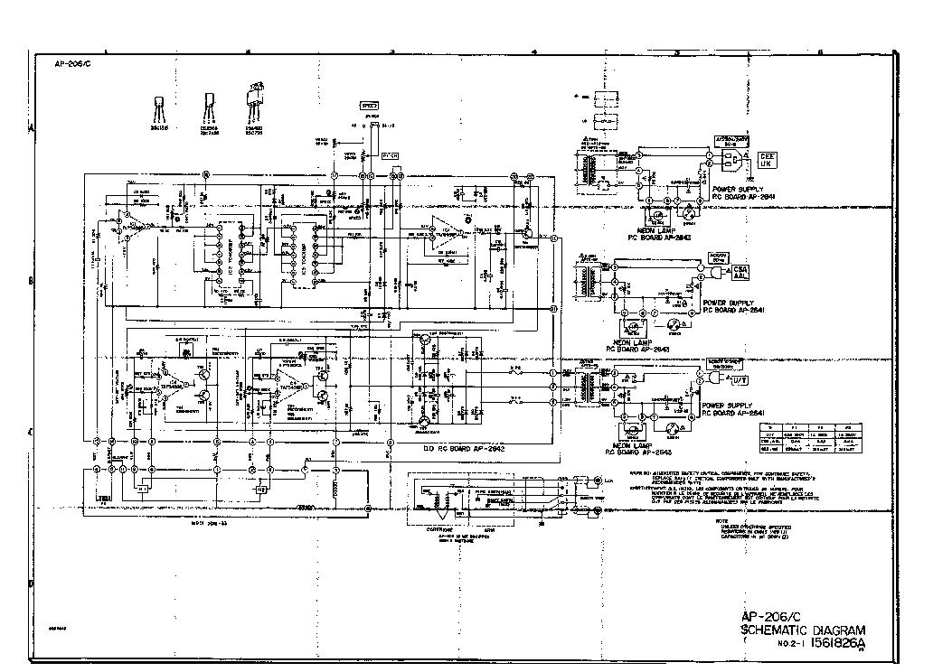 AKAI AP-206C TURNTABLE SCHEMATIC Service Manual download