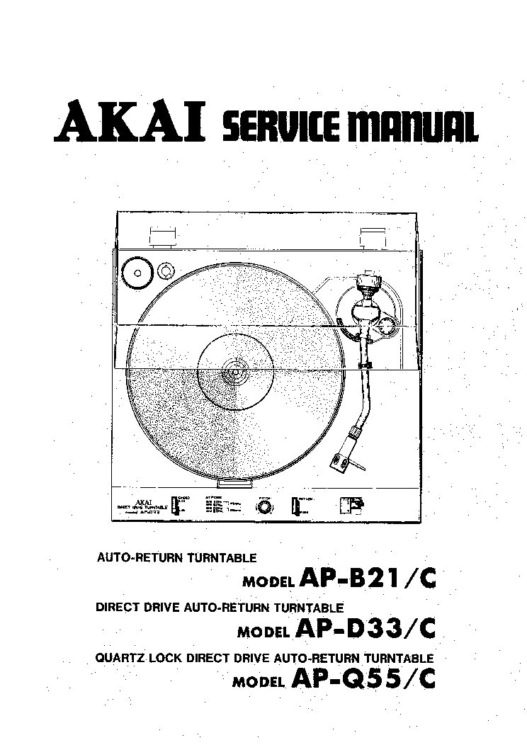 AKAI AP-B21 D33 Q55 Service Manual download, schematics
