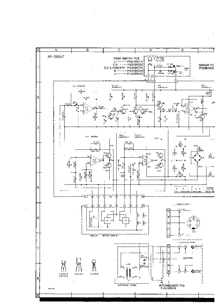 AKAI AP-D210 SCH Service Manual download, schematics