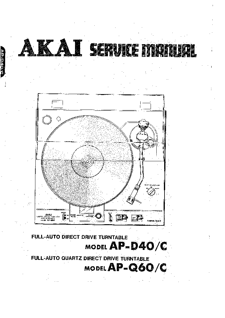 AKAI AP-D40 Q60 Service Manual download, schematics