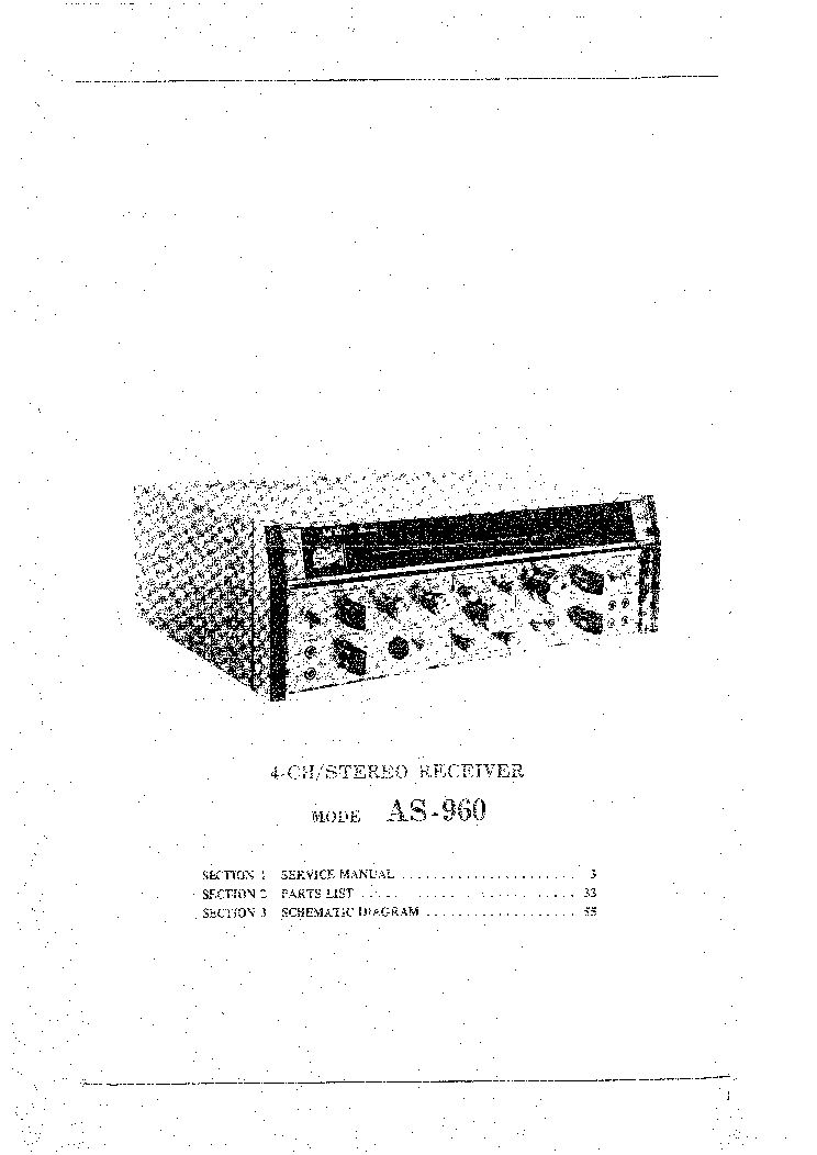 AKAI AS-960 Service Manual download, schematics, eeprom