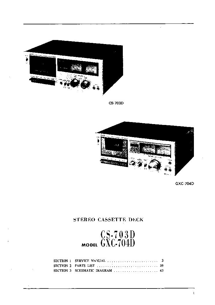 AKAI CS-703D GXC-704D SM Service Manual download