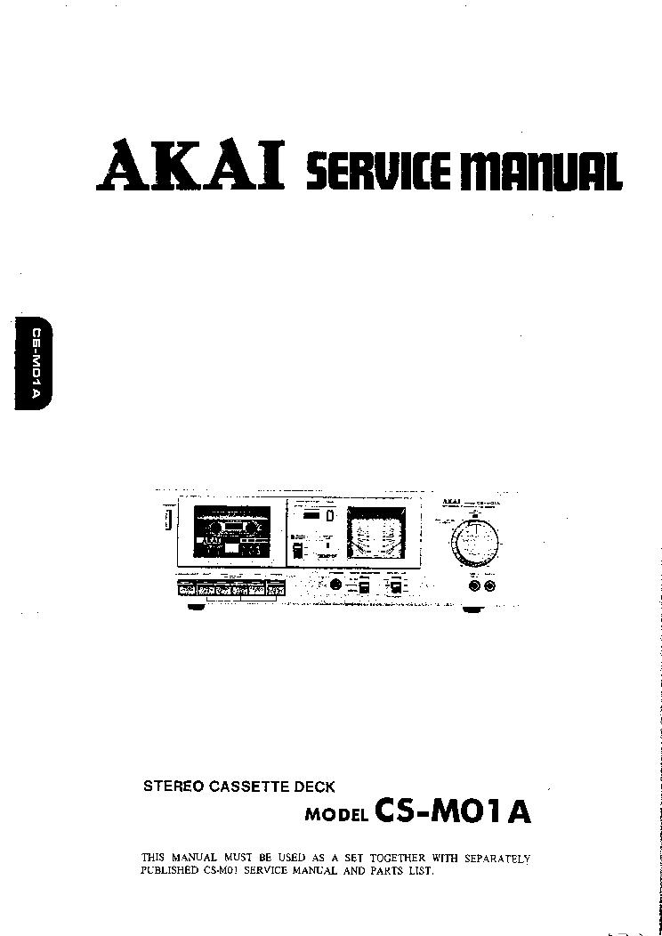 AKAI CS-M01A SM Service Manual download, schematics