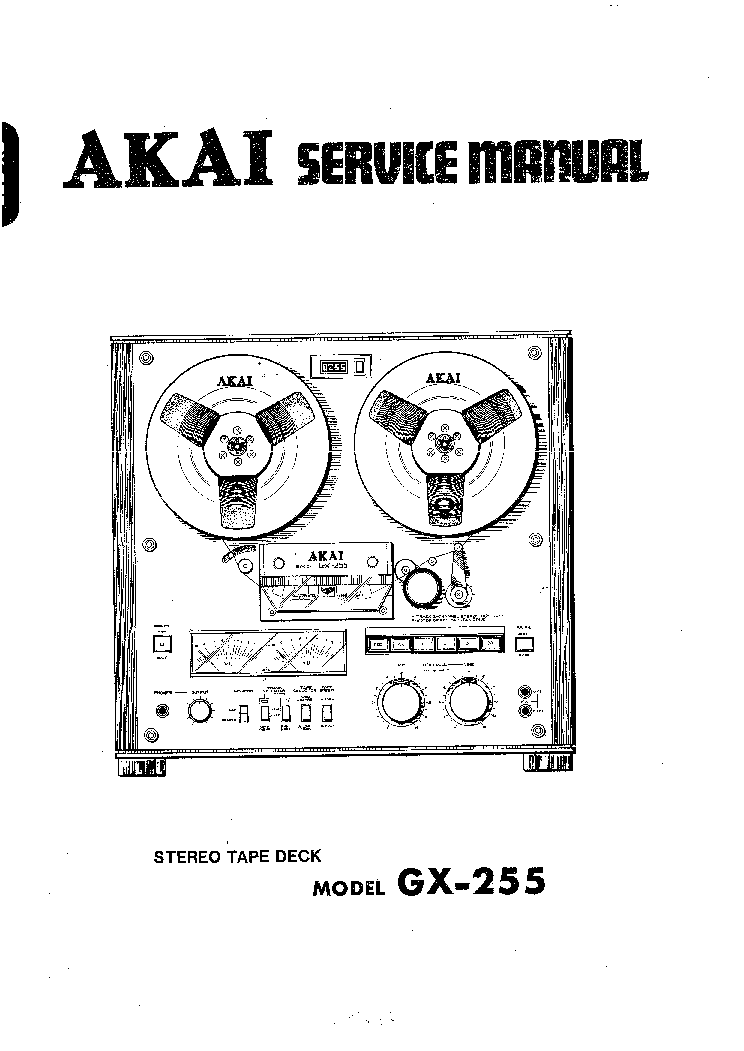 AKAI GX-255 SM Service Manual download, schematics, eeprom