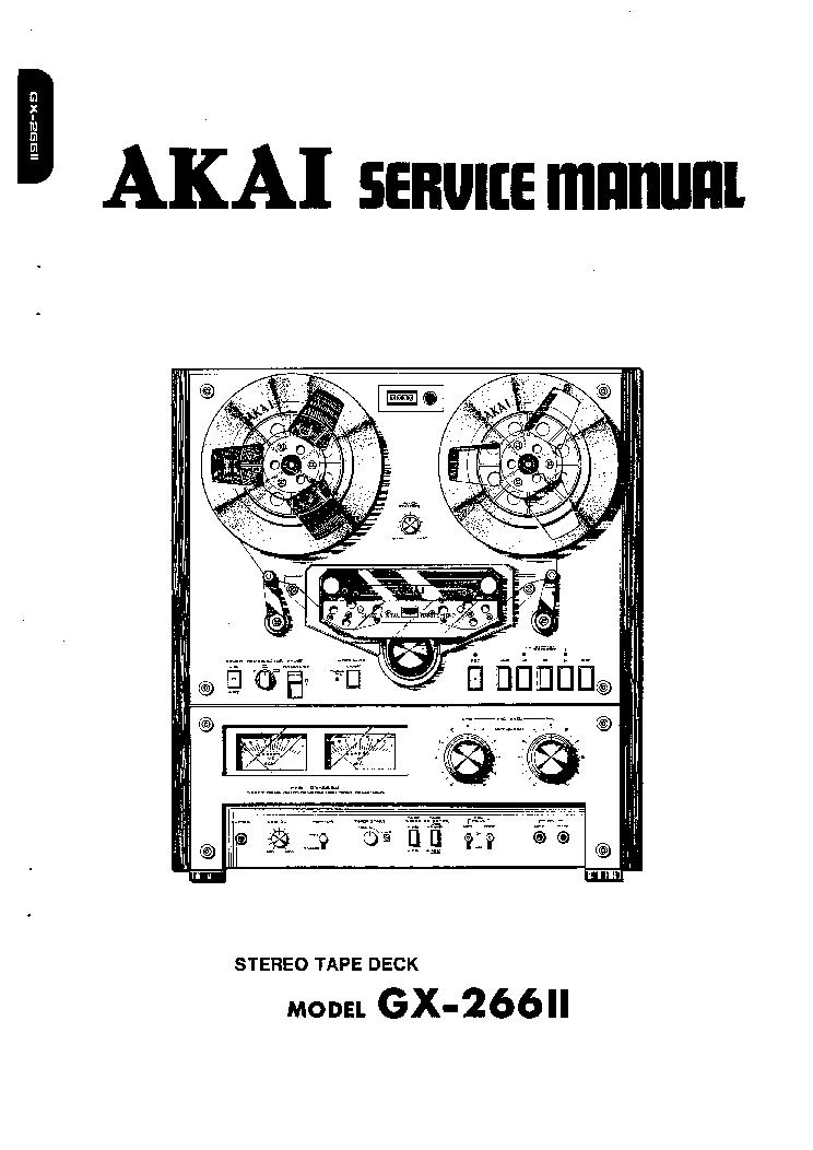 AKAI GX-266-2 SM Service Manual download, schematics