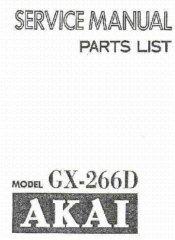 AKAI DX-57 DX-59 GX-67 GX-69 Service Manual free download