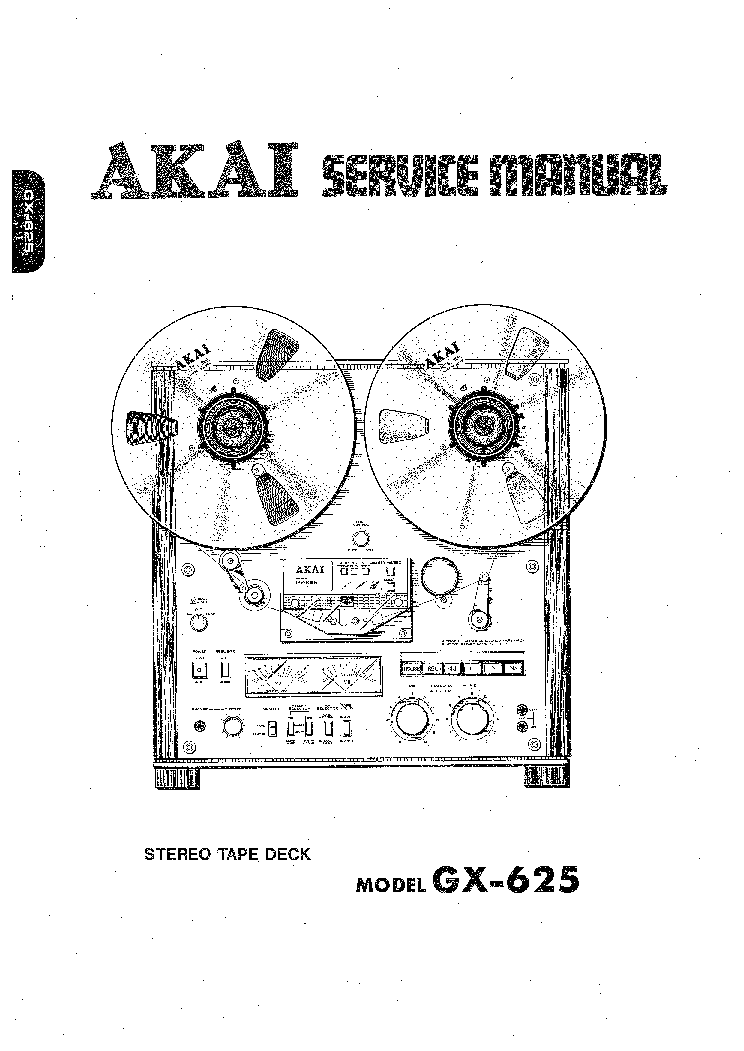 AKAI GX-625 SM Service Manual download, schematics, eeprom