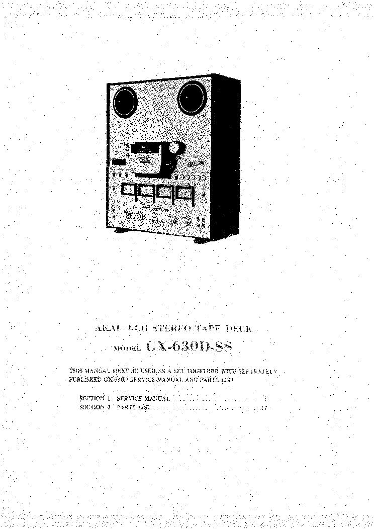 AKAI GX-630D-SS SM Service Manual download, schematics