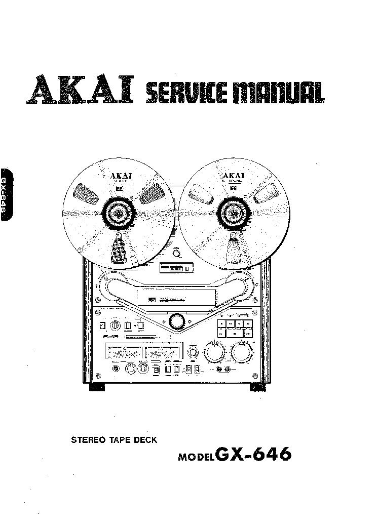 AKAI GX-646 Service Manual download, schematics, eeprom