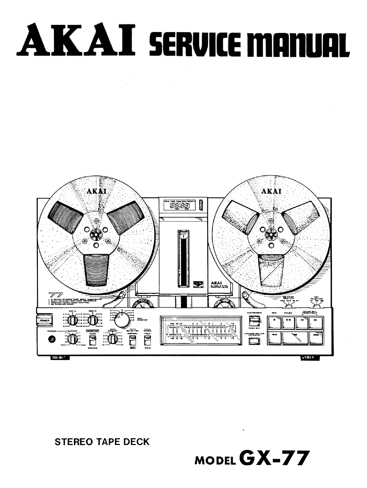 AKAI GX-77 SM Service Manual download, schematics, eeprom