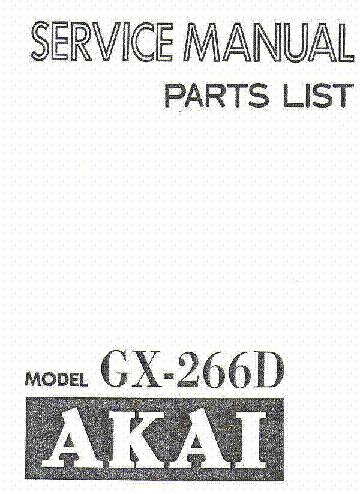 AKAI AT-K02 AM-U02 SM Service Manual download, schematics