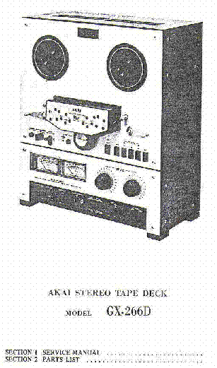 AKAI GX266D Service Manual download, schematics, eeprom