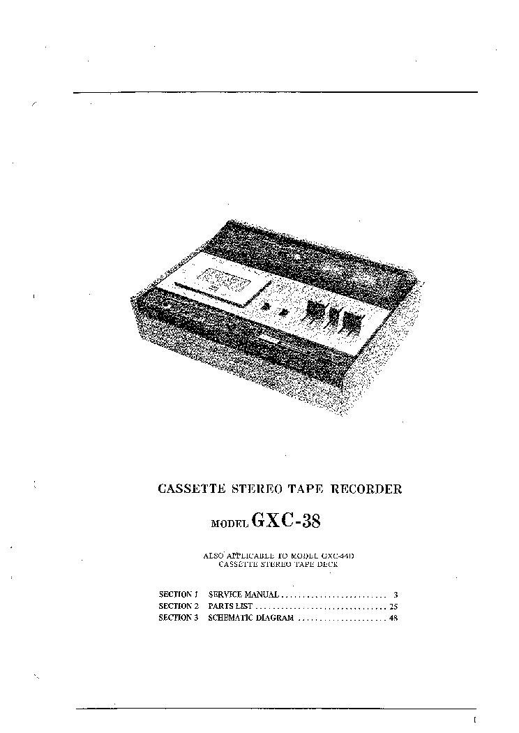 AKAI GXC-38 44D SM Service Manual download, schematics