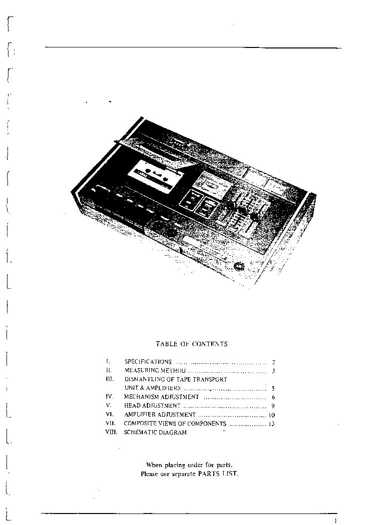 AKAI GXC-40D SM Service Manual download, schematics