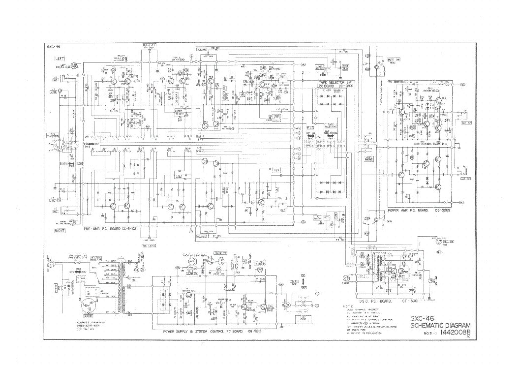 AKAI GXC-46 46D SCH Service Manual download, schematics