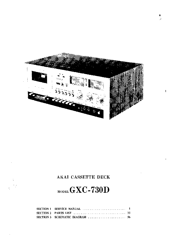 AKAI GXC-730D SM Service Manual download, schematics