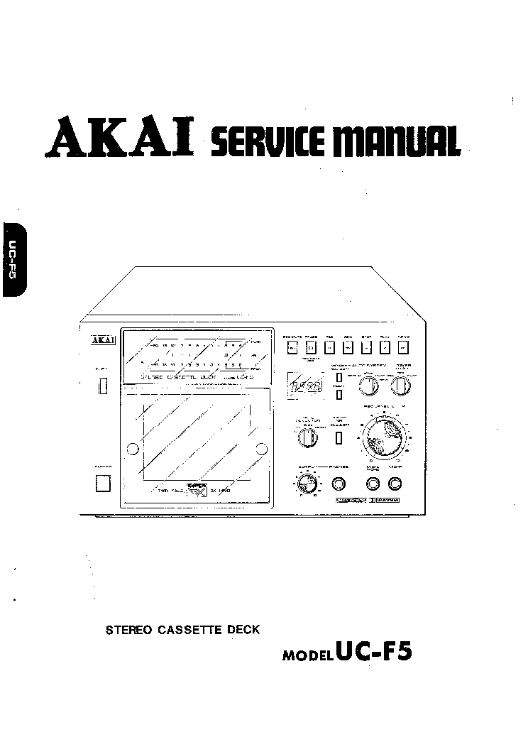 AKAI UC-F5 SM Service Manual download, schematics, eeprom